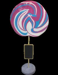 Lutscher lila-blau mit Tafel