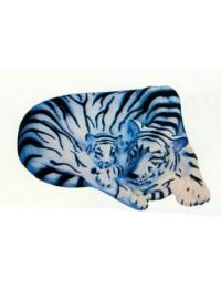 liegender Tiger weiß mit Kind