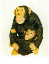 Affe sitzend mit Kind