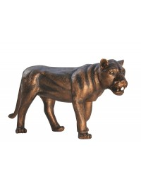 Löwin stehend Bronze