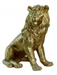 Löwe sitzend Blick rechts Gold
