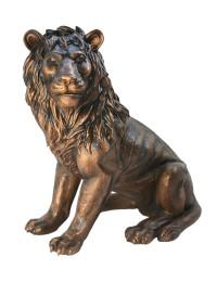 Löwe sitzend Blick links Bronze