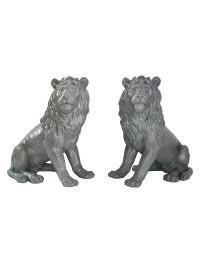 Löwen Blick rechts und links Stein Effekt
