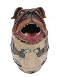 Abfalleimer oder Wäschekorb Hund Bulldog