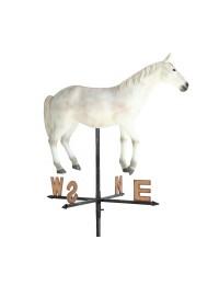 Weißes Pferd Windrichtungsanzeiger