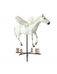 Weißer Pegasus Windrichtungsanzeiger