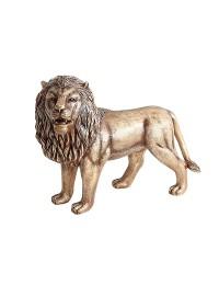 Goldener Löwe stehend