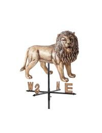 Goldener Löwe stehend Windrichtungsanzeiger
