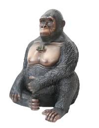 Gorilla Abfalleimer