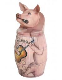 Abfalleimer oder Wäschekorb Schwein
