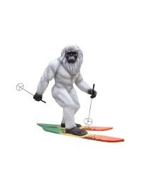 Yeti auf Skiern