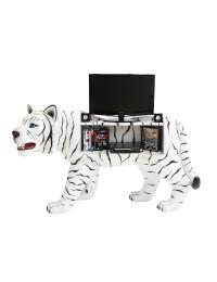Weißer Tiger Regal