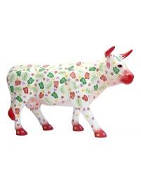 Kuh mit Blumen