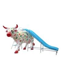 Kuh mit Blumen Rutsche