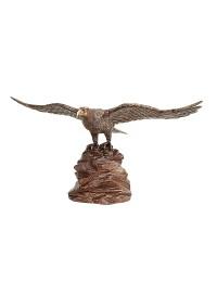 Gold Bronze Adler auf Stein
