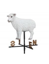 Weißes Schaf Windrichtungsanzeiger