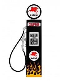 Route 66 Tankstelle Schwarz mit Flammen als Wanddeko