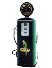Retro Zapfsäule Schwarz Grün mit Papagei als Schrank