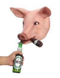 Schweinekopf mit Zigarre Flaschenöffner