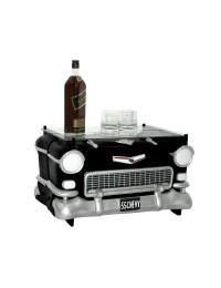 Tisch Chevy Schwarz mit Glasplatte