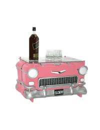 Tisch Chevy Rosa mit Glasplatte
