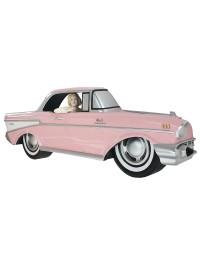 Wanddeko Chevy Rosa mit Marilyn