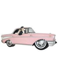 Wanddeko Chevy Rosa mit Elvis und Marilyn