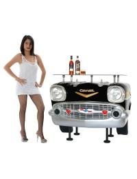 Bar Chevy Front Schwarz mit Glasplatte