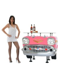 Bar Chevy Front Rosa mit Glasplatte