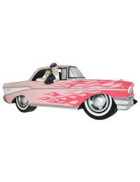 Wanddeko Chevy Rosa mit pinken Flammen und Elvis