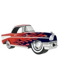 Wanddeko Chevy Rot mit blauen Flammen