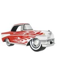 Wanddeko Chevy Rot mit weißen Flammen