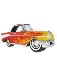 Wanddeko Chevy Rot mit gelben Flammen
