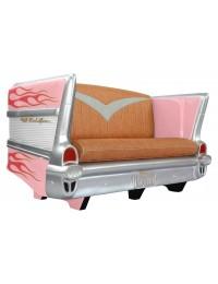 Sofa Chevy Rosa mit pink goldenen Flammen