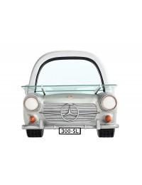 Spiegel Mercedes Benz Silber mit Regal