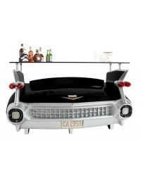 Bar Cadillac Schwarz mit orangenen Flammen und Kofferraumschrank