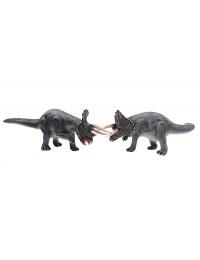 Dinosaurier Triceratops mittel grau 2 Stück