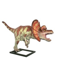 Dinosaurier Dilophosaurus mittel braun