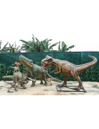 Dinosaurier Tyrannosaurus, Brachiosaurus, Triceratops und Raptor