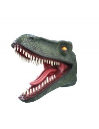 Dinosaurier Raptorkopf grün