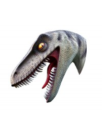 Dinosaurier Raptorkopf