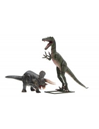 Dinosaurier Triceratops und Tyrannosaurus
