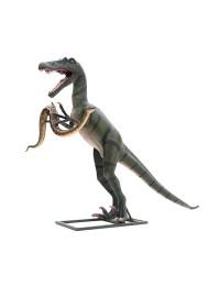 Dinosaurier Tyrannosaurus mit Anakonda