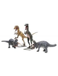 Dinosaurier Tyrannosaurus, Triceratops und Raptor