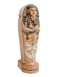 ägyptischer Sarg Stehend mit Mumie darin
