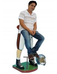 Footballspieler Beine Barhocker Weiß