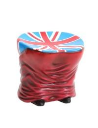 Hocker Hintern Rot mit britischer Fahne