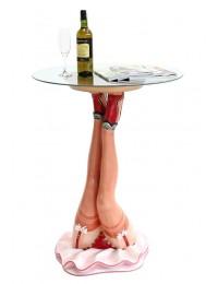Umgekehrte Sexy Frauenbeine Tisch mit Glasplatte