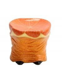 Hocker Hintern mit Orangenmuster