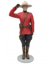 Kanadischer Polizist Salutierend